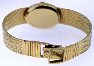 Ladys 14k Yellow Gold Rolex Watch Mesh Band 7 37.1 Grams Not Scrap