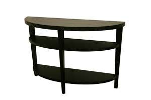 CARISSA WOOD oval BLACK sofa/console TABLE modern
