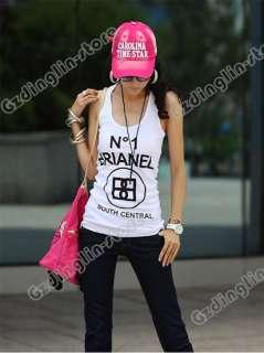 Sleeveless T Shirt Girls Tank Tops Ladies Cami Waistcoat Vest #293