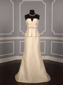 Badgley Mischka Leigh Silk Magnolia New Strapless Couture Wedding