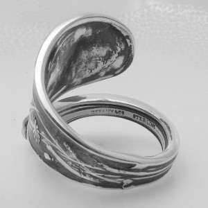 STERLING SILVER DIAMOND spoon ring AUDUBON by TIFFANY & CO.