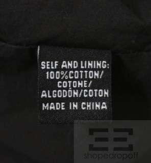 Tibi Black Cotton & Eyelet Cap Sleeve Shift Dress Size Large
