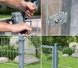 Zaunbau mit System   Modulbausteine für das Doppelstab Matten