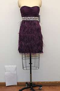 Beaded Feather W/Shirred Bodice Prom/Homecoming/Cocktail Dress