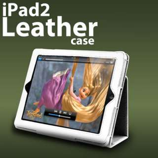 London Magic Store   NEW WHITE APPLE IPAD 2 2ND GEN LEATHER FLIP CASE