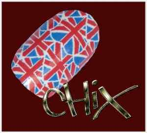 CHIX Nail Wraps Union Jack Hearts Red White Blue Flag Fingers Toes