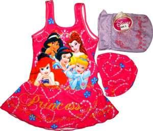 DISNEY PRINCESS Girls Swimming Costume Small Age 3 4