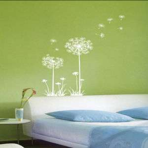 DANDELION ★ FLOWER WALL DECALS MURAL ART WALL STICKERS