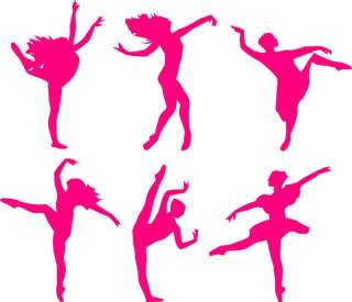 LARGE BALLET DANCERS WALL STICKERS ART DECALS WALL ART