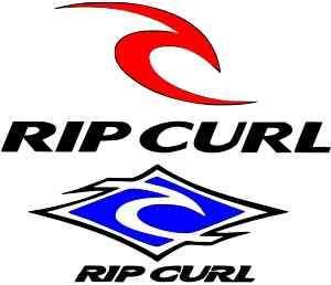 2 x Ripcurl Logo Sticker surf wetsuit tshirt 100mm