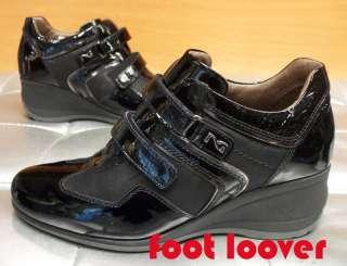 Scarpe Nero Giardini donna 473D 100 black sneakers velcro