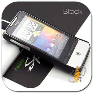 Black Rubber Case Hard Skin Cover HTC Legend A6363