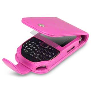 PINK PU LEATHER FLIP CASE FOR ORANGE RIO W/LCD GUARD