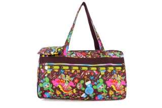 Girls Cartoon Travel Holdall Women Sports Gym Fun Bag