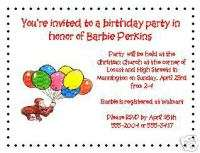12 Curious George Baby Shower /Birthday Invitations