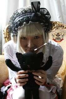 GOTHIC DOLL Lolita Sawtooth Lace Cameo Bonnet Headdress