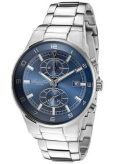 Kenneth Cole Watch KC3500 Mens Chronograph Blue Dial Stainless Steel