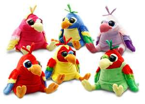 NEW* 25cm RED Crackers PARROT Soft Toy KEEL TOYS