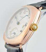 Rare Mens Pink Gold 1930s Waltham Enamel Dial W/Watch