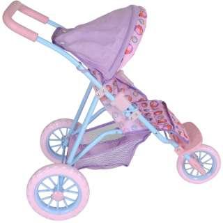 Kids Peppa Pig 3 Wheel Stroller Baby Dolls Push Chair