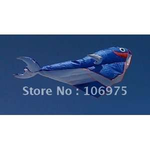 huge 2.1m blue whale parafoil kite outdoor flying toy fun