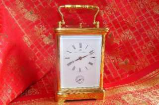 MATTHEW NORMAN STRIKING REPEATER ALARM CARRIAGE CLOCK