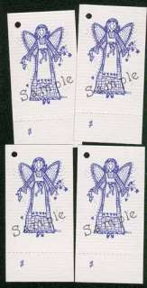 50 PLAID ANGEL HANG TAGS PRICE PERFORATED CARDSTOCK