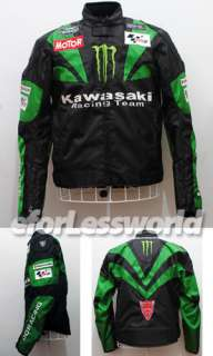 Motorbike Kawasaki Monster Energy Oxford Textile Jacket