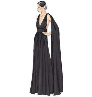 V7521 Patron Vogue Robes Occasion Special Facile 42 46