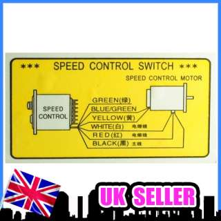 US 52 AC220V Output Motor Speed Control 90W UK Stock