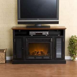 Flat Panel TV Stand and Electric Fireplace in Espresso   MTVS2520SE