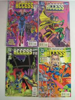 SET OF DC/MARVEL ALL ACCESS #1 4 NM/M LIMITED SERIES 1996 1997 GUICE