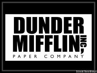 Dunder Mifflin The Office Logo Decal Sticker (2x)