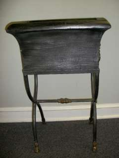 MAITLAND SMITH STEEL & BRASS 2 PC. JARDINIERE PLANTER