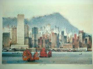 This listing is for a signed limited edition print by Hong Kong artist