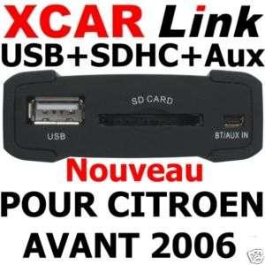 XCARLink USB SDHC CITROEN VAN C2,C3,C5,SAXO,XSARA,PICASSO