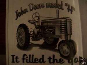 John Deere model H tractor Green Magazine