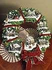 Thomas Kinkade Christmas Village Wreath Illuminated MIB