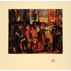 Skinners Hall London Men Rich   Original Color Print