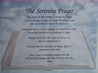 The Serenity Prayer Christian Poems Bible Verse Gift