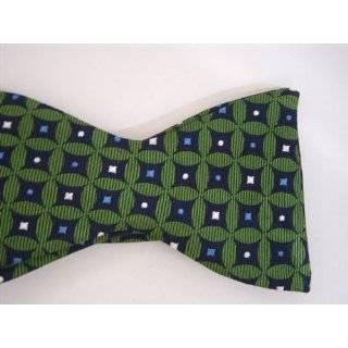 100% Silk Purple & White Stripe Bow Tie/ Kansas State