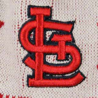 St. Louis Cardinals Youth Jr. Striped Snowflake Knit Hat