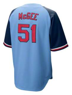 Willie McGee St. Louis Cardinals Blue Nike Cooperstown Quick Pick