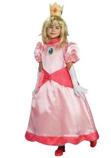 Kids Deluxe Princess Peach Costume   Super Mario Brothers Costumes