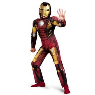 The Avengers Iron Man Mark VII Classic Muscle Chest Kids Costume