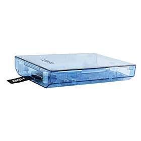 hdd caso unidad de disco duro de Xbox 360 Slim (azul transparente