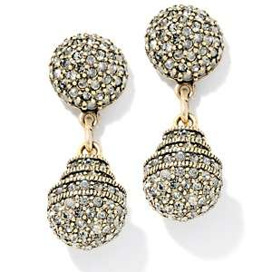 Heidi Daus Museum Madness Crystal Accented Drop Earrings