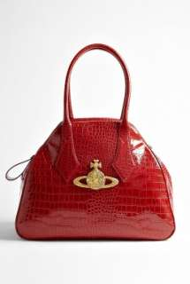 Vivienne Westwood Accessories  Red Large Chancey Bag by Vivienne