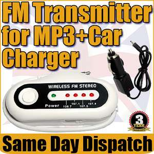 Transmitter Aux For iPod  Player iPhone 4G + Quality Car Charger