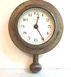 Antique Waltham 8 Day Car Clock Hudson Super Six with Bronze Mounting